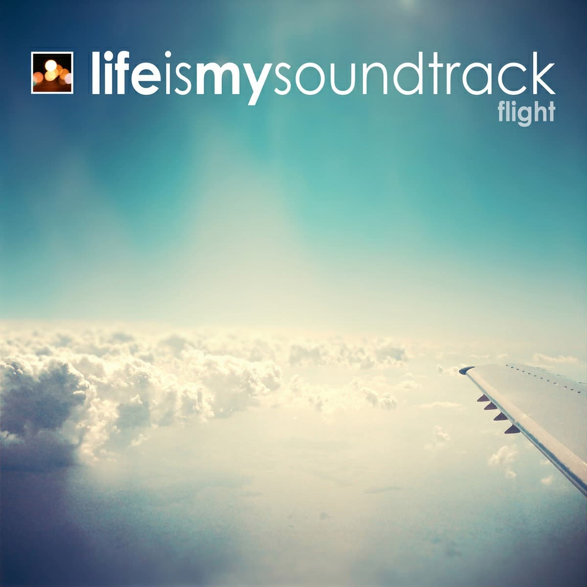 The album Flight by Life Is My Soundtrack - Soar above the clouds, looking down at the earth below